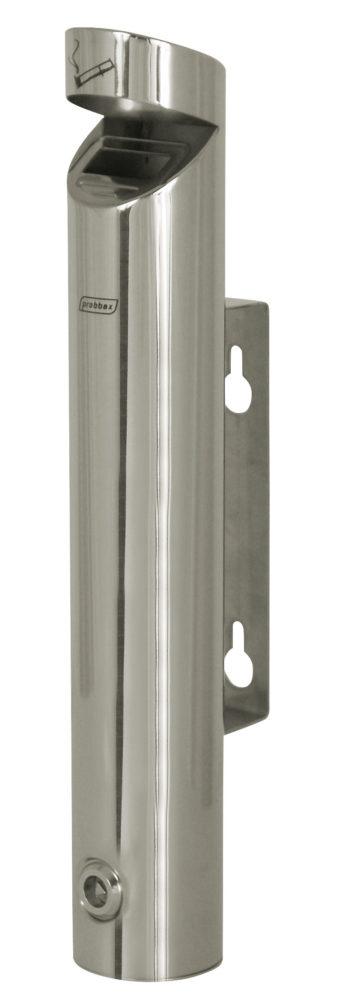 ASHTRAY tubular de acero inoxidable de pared con techo de 1.7L